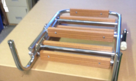 Example of a stainless custom boarding ladder by White Water Marine